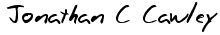jonathan cawley signature