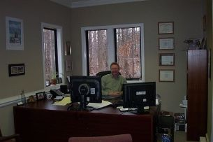 Jonathan Cawley in Raleigh Mosquito Control Office